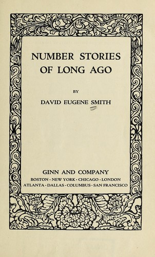 Download Number Stories of Long Ago