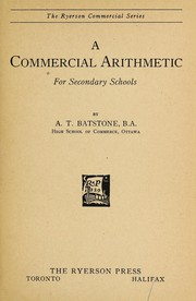 A commercial arithmetic for secondary schools