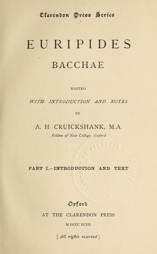 Download Bacchae.