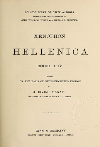Hellenica, books I-IV