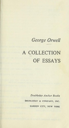 A collection of essays.