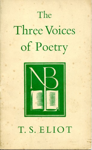 The three voices of poetry