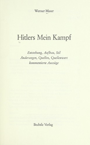 Download Hitlers Mein Kampf.