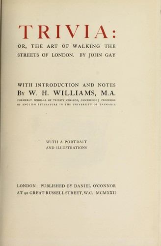 Download Trivia, or, The art of walking the streets of London