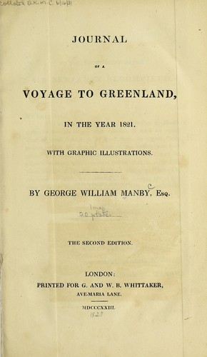 Journal of a voyage to Greenland, in the year 1821.
