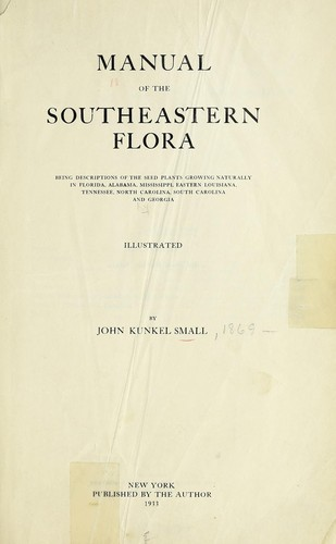 Download Manual of the southeastern flora