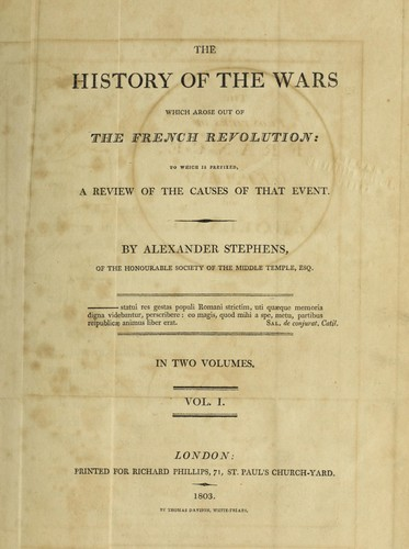 Download The history of the wars which arose out of the French revolution