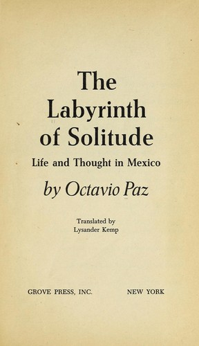 Download The labyrinth of solitude: life and thought in Mexico.