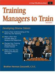 Training managers to train by Herman E. Zaccarelli