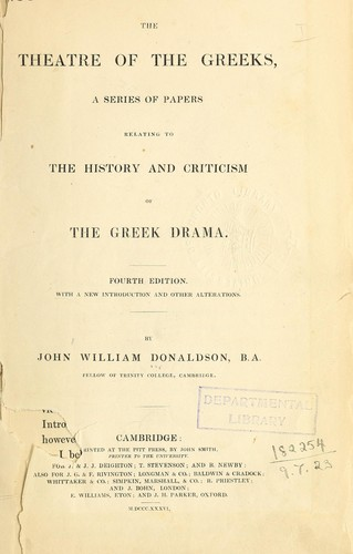 Download The theatre of the Greeks