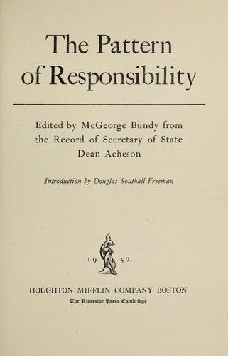Download The pattern of responsibility