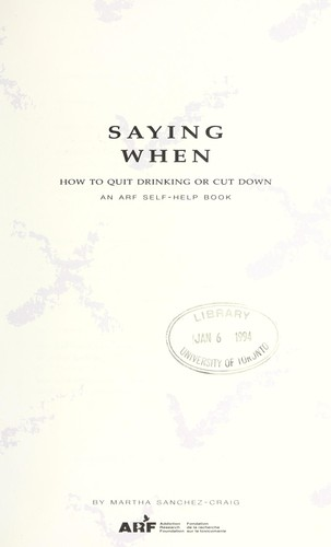 Saying when