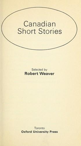 Canadian short stories