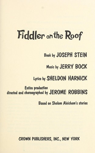 Download Fiddler on the roof