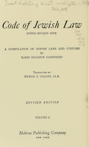 Download Code of Jewish law