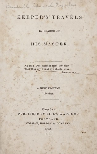 Download Keeper's travels in search of his master.
