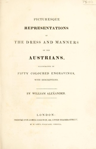 Download Picturesque representations of the dress and manners of the Austrians.
