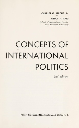 Concepts of international politics
