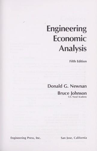 Download Engineering economic analysis