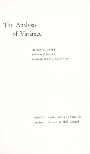 The analysis of variance.