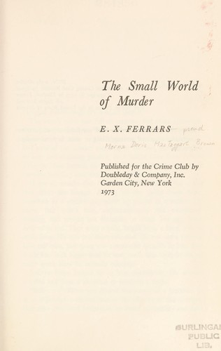The small world of murder