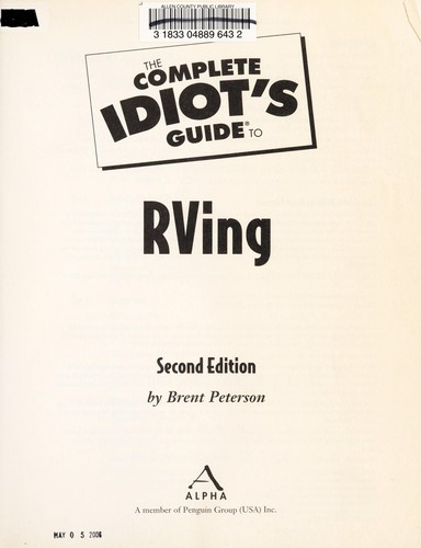 Download The complete idiot's guide to RVing