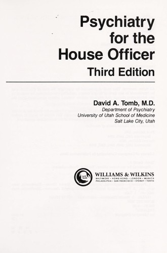 Psychiatry for the house officer