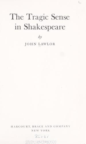Download The tragic sense in Shakespeare