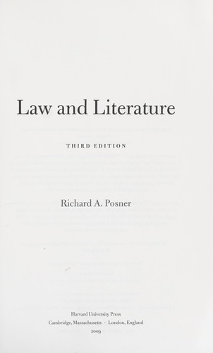 Download Law and literature