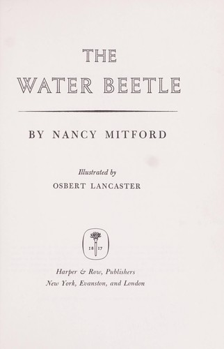 The water beetle.