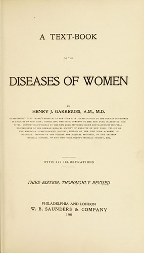 Download A text-book of the diseases of women