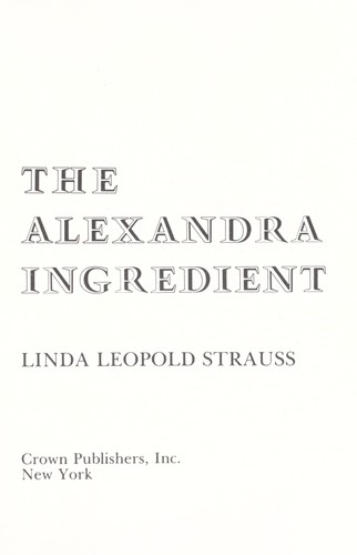 Download The Alexandra ingredient