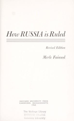How Russia is ruled