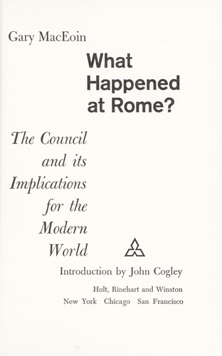 What happened at Rome?
