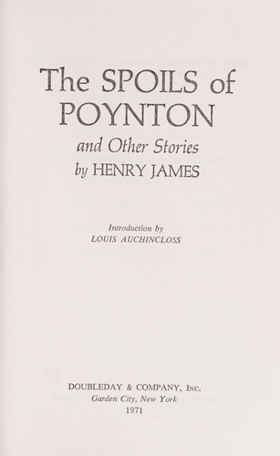 Download The spoils of Poynton, and other stories.