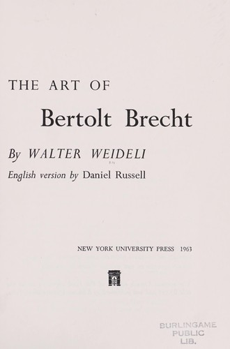 The art of Bertolt Brecht