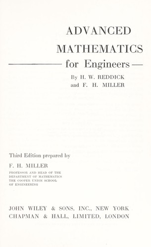 Download Advanced mathematics for engineers.