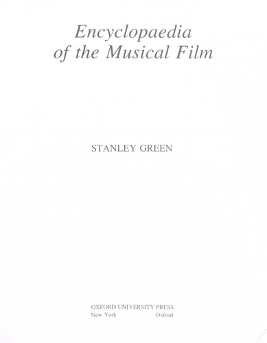 Encyclopaedia of the Musical Film