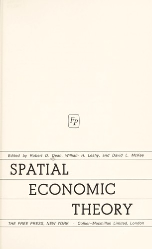 Spatial economic theory.