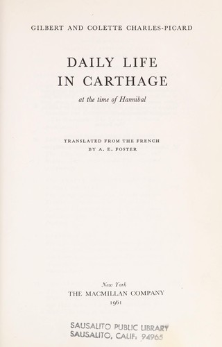 Download Daily life in Carthage at the time of Hannibal