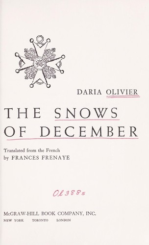 The snows of December.