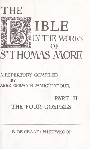 Download The Bible in the works of Thomas More.