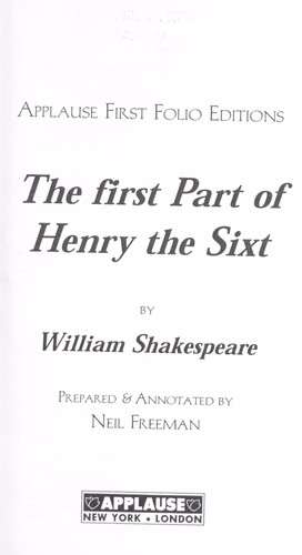 Download The first part of Henry the Sixt