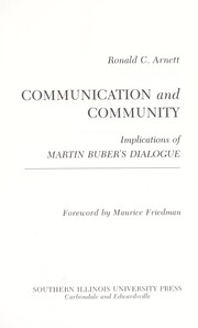 Communication and community : implications of Martin Bubers dialogue