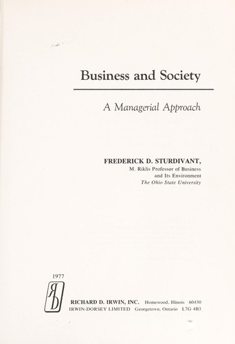 Download Business and society