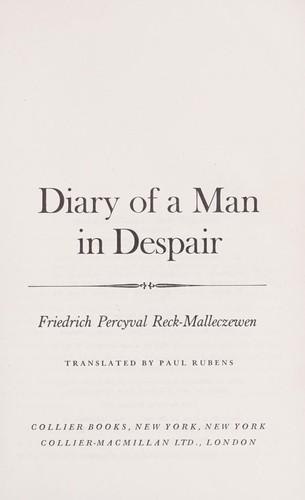 Download Diary of a man in despair