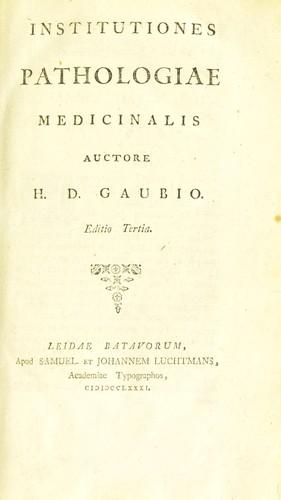Download Institutiones pathologiae medicinalis