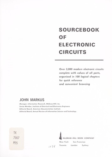 Sourcebook of electronic circuits.