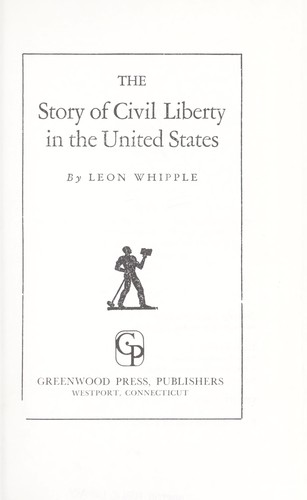 Download The story of civil liberty in the United States.