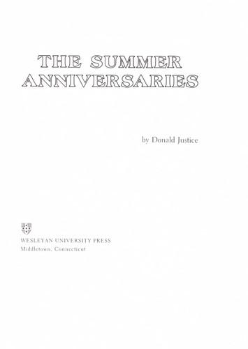 The summer anniversaries